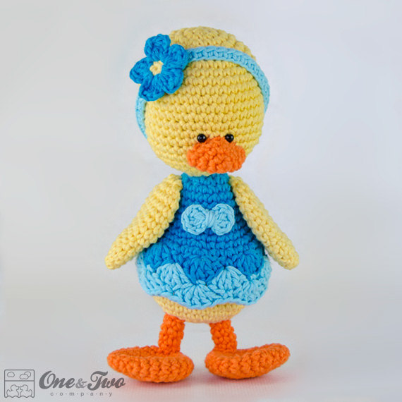 duck amigurumi - one & two company ETSY