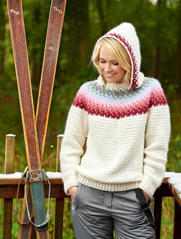 Crochet story shoot on location with model Sara