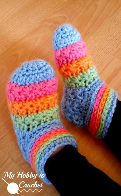 starlight toddler slippers - my hobby is crochet