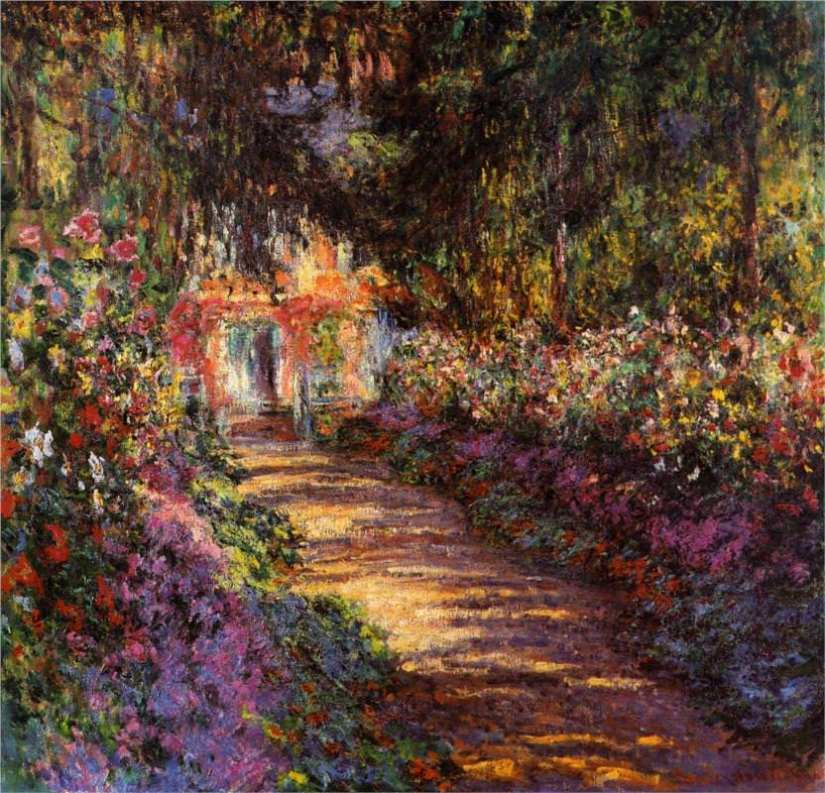 garden-path-at-giverny - claud monet