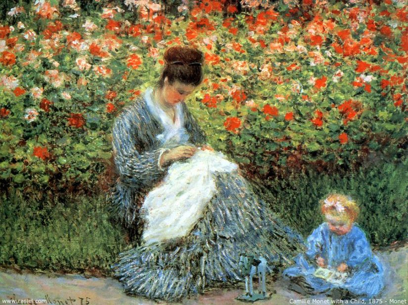 madame-monet-and-child - claude monet
